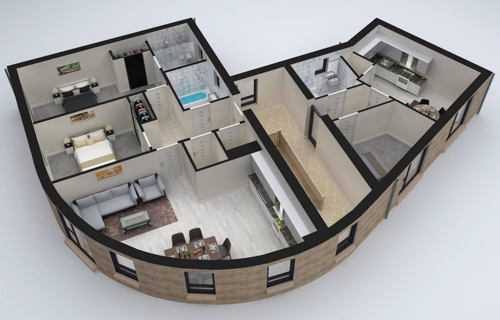 3D Sections Plan Visualization