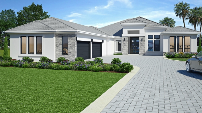 3d building drawing exterior