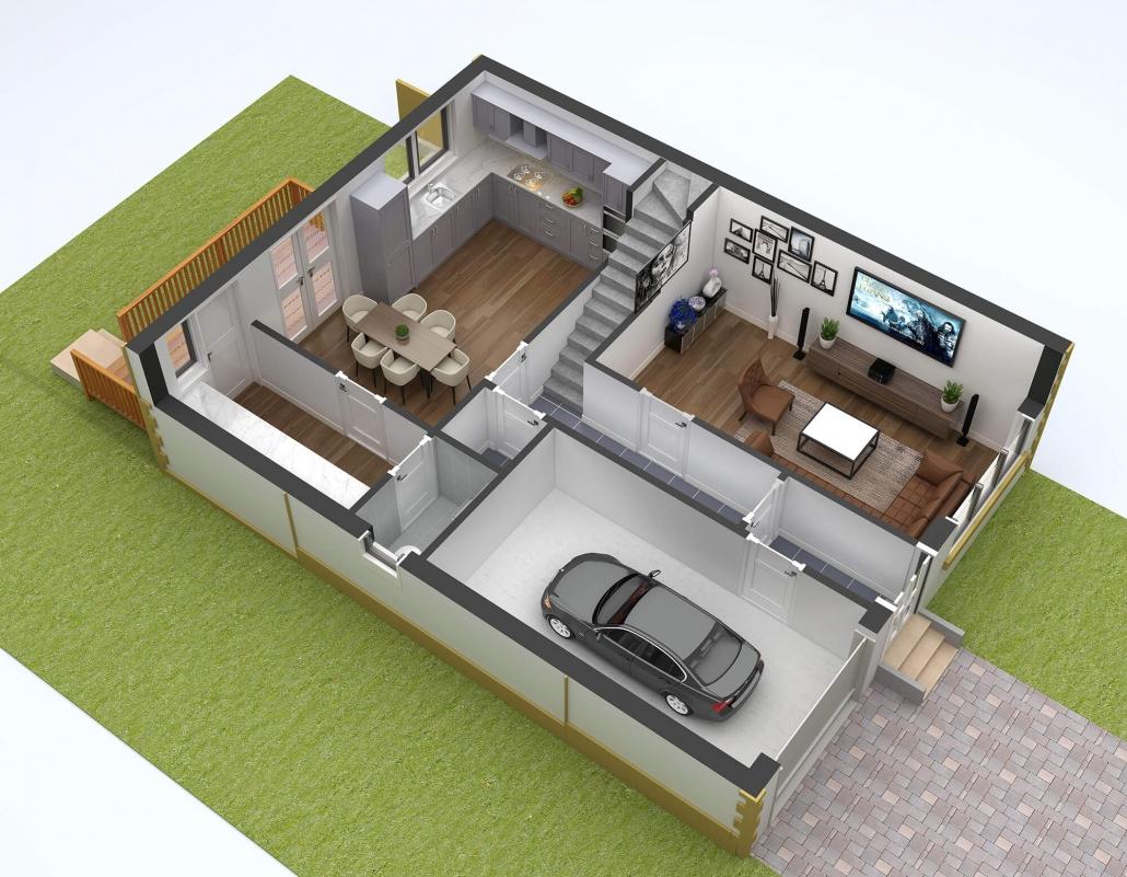 3d interior floor plans