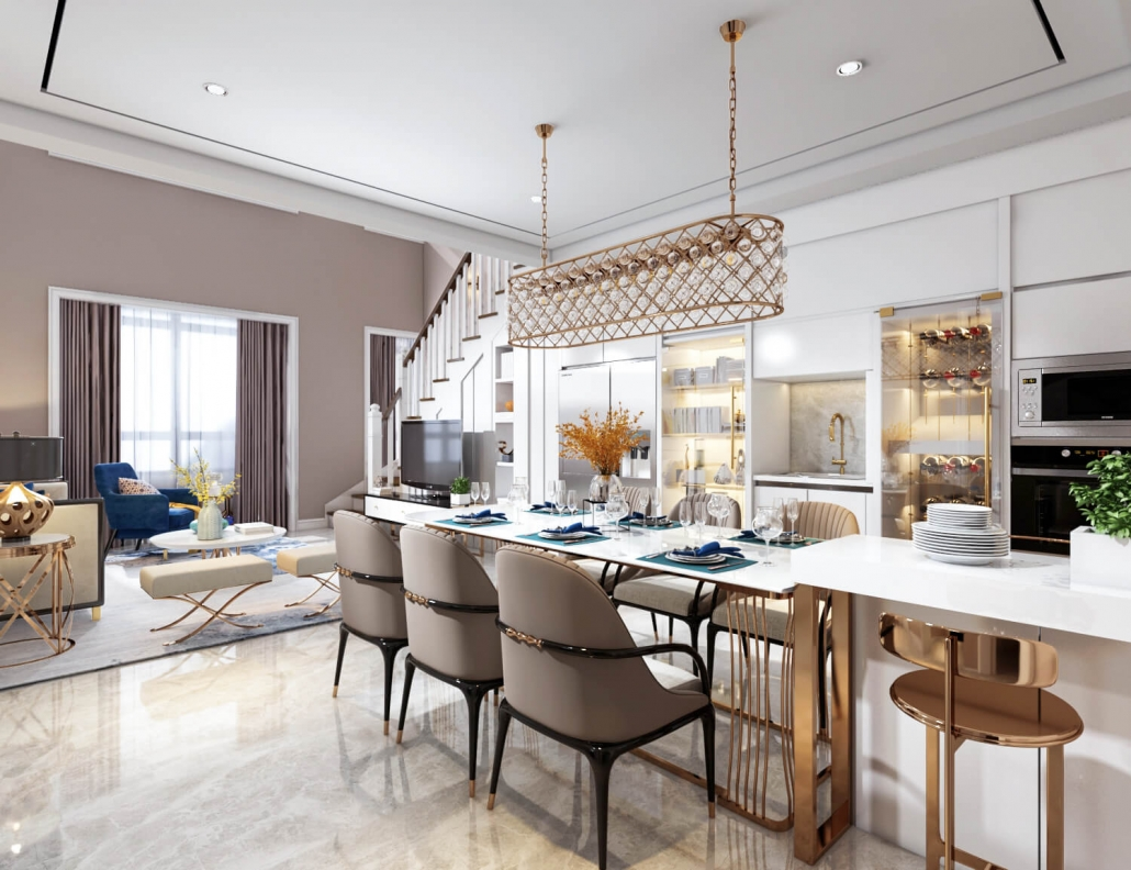 3d interior home rendering