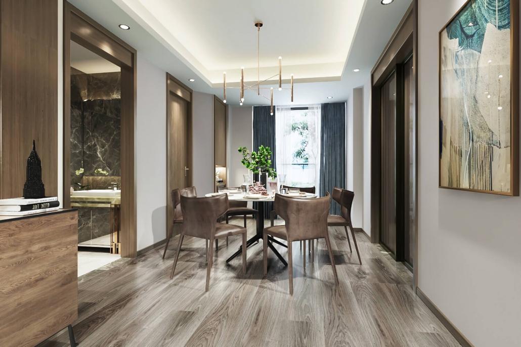 3d interior house design rendering
