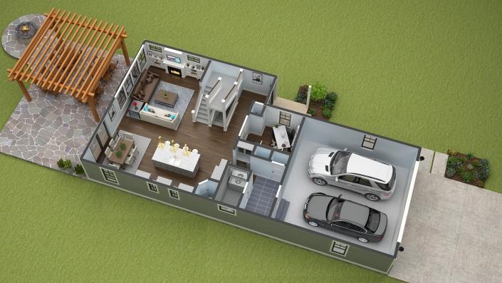 Affordable 3D floor Plan design