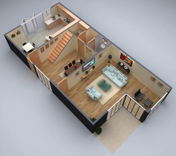 Residential 3d floor plan design