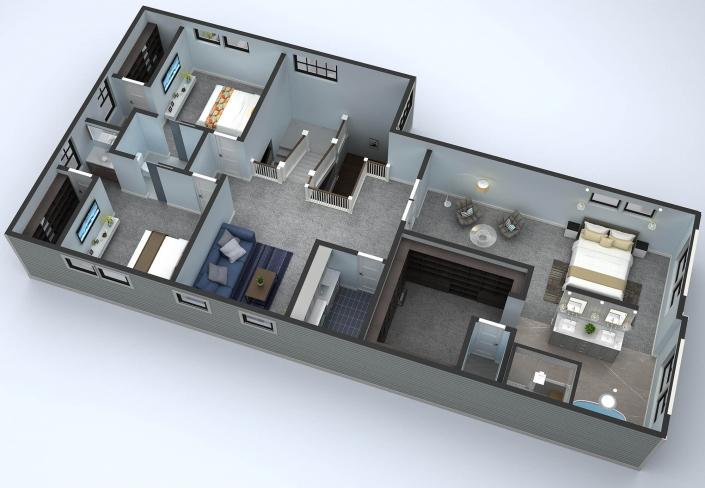 Top 3D floor Plan