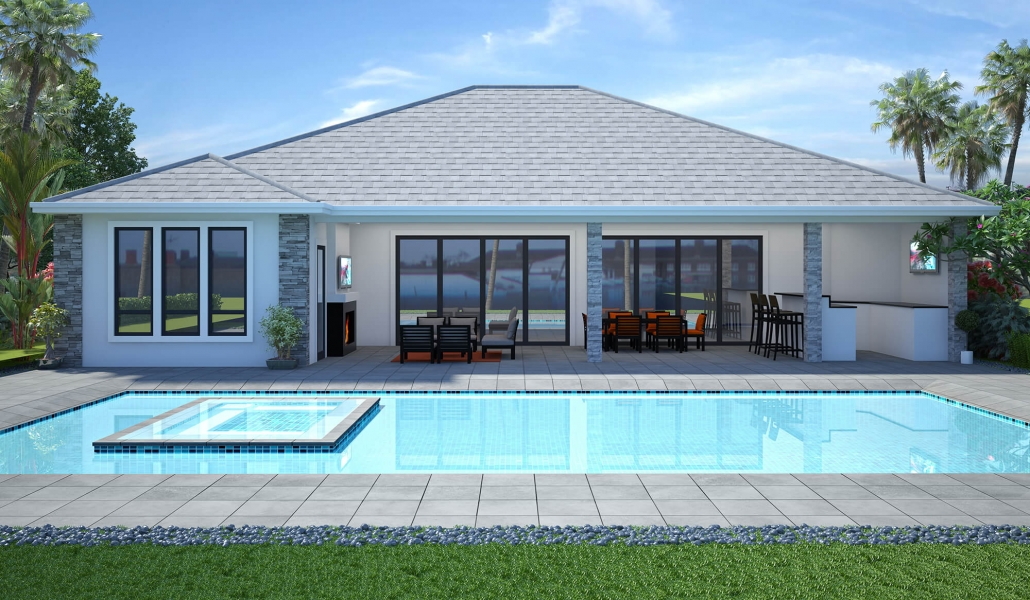 rendered house designs 3d