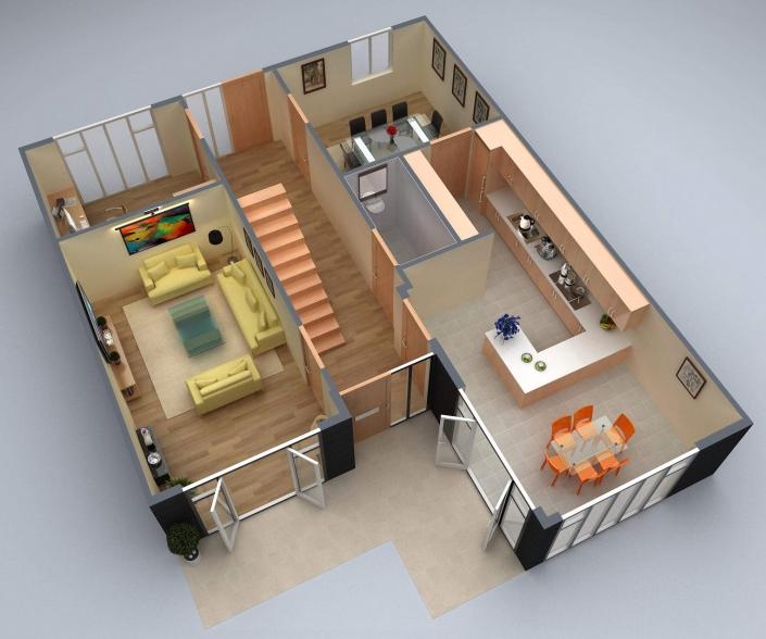 residential 3d house plans