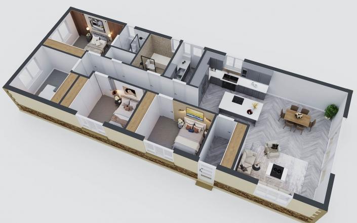 3d floor plan of house