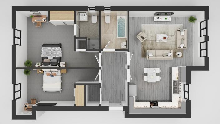 floor plan 3d rendering