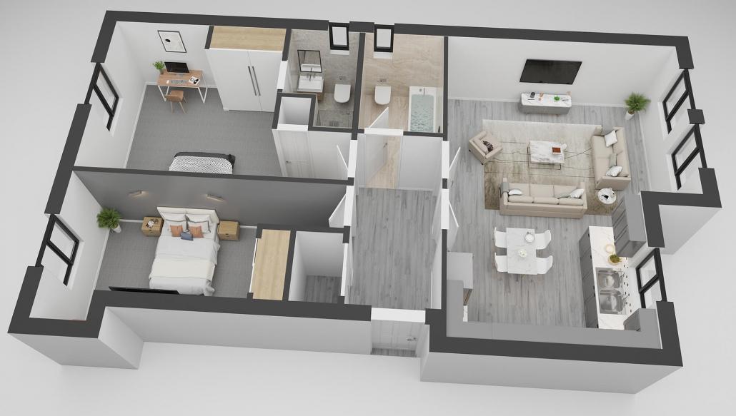 3d plan rendering