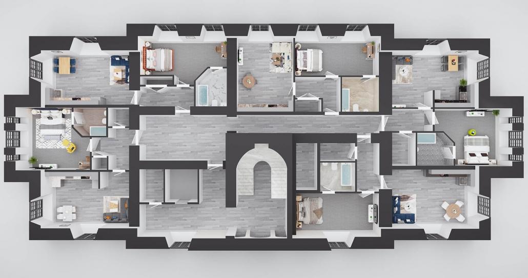 house plan rendering