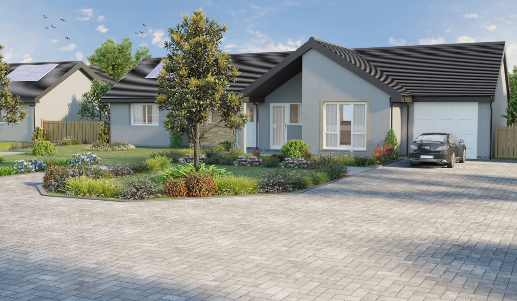 rendering outside of house