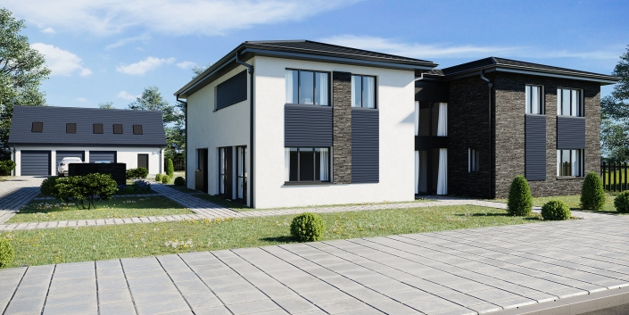 cost to render front of house